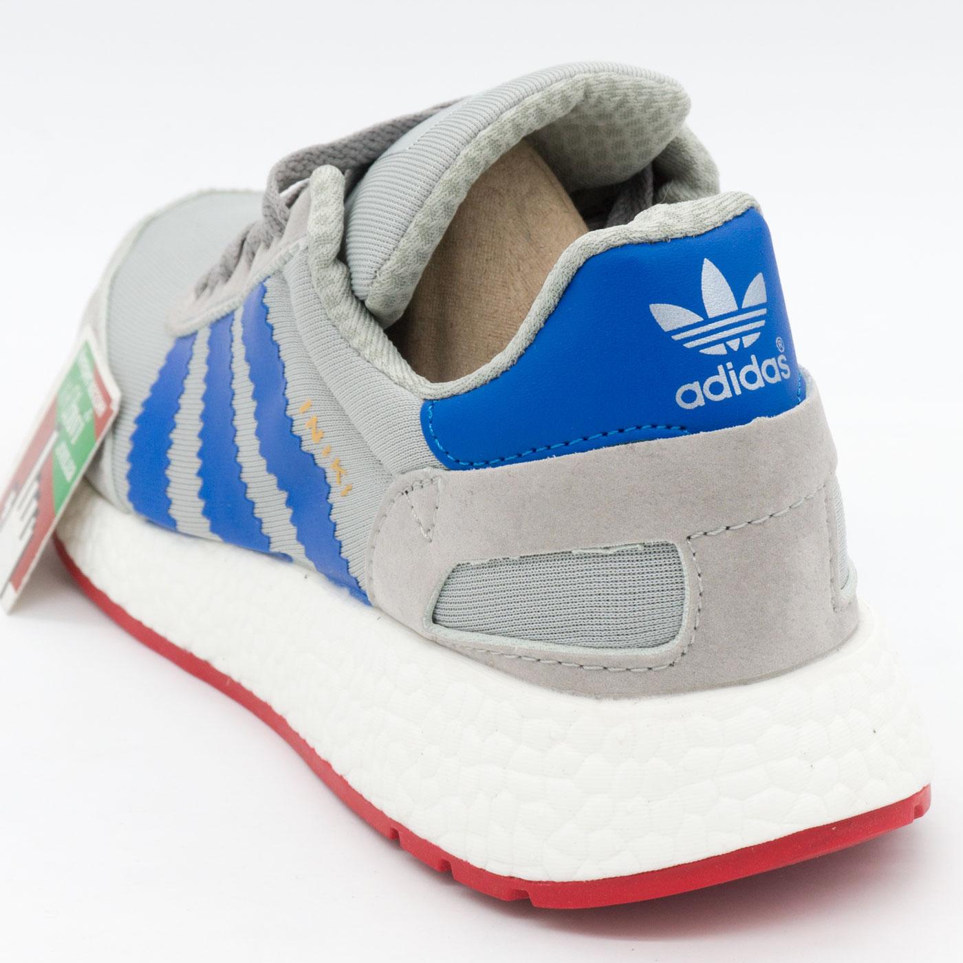 фото back Кроссовки для бега Adidas Iniki Runner серые с синим back