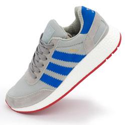 Кроссовки для бега Adidas Iniki Runner серые с синим