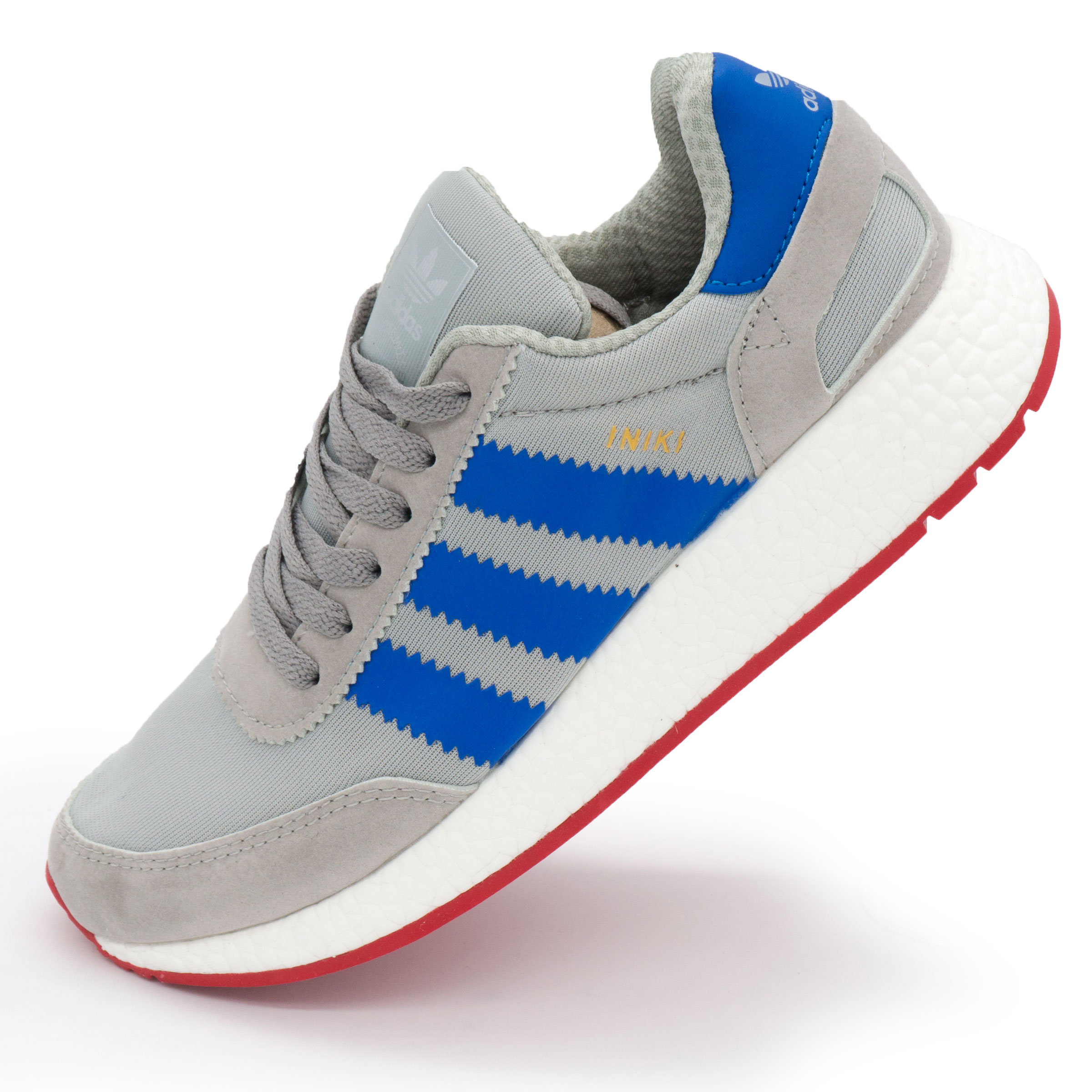 823573fb ... фото main Кроссовки для бега Adidas Iniki Runner серые с синим main ...