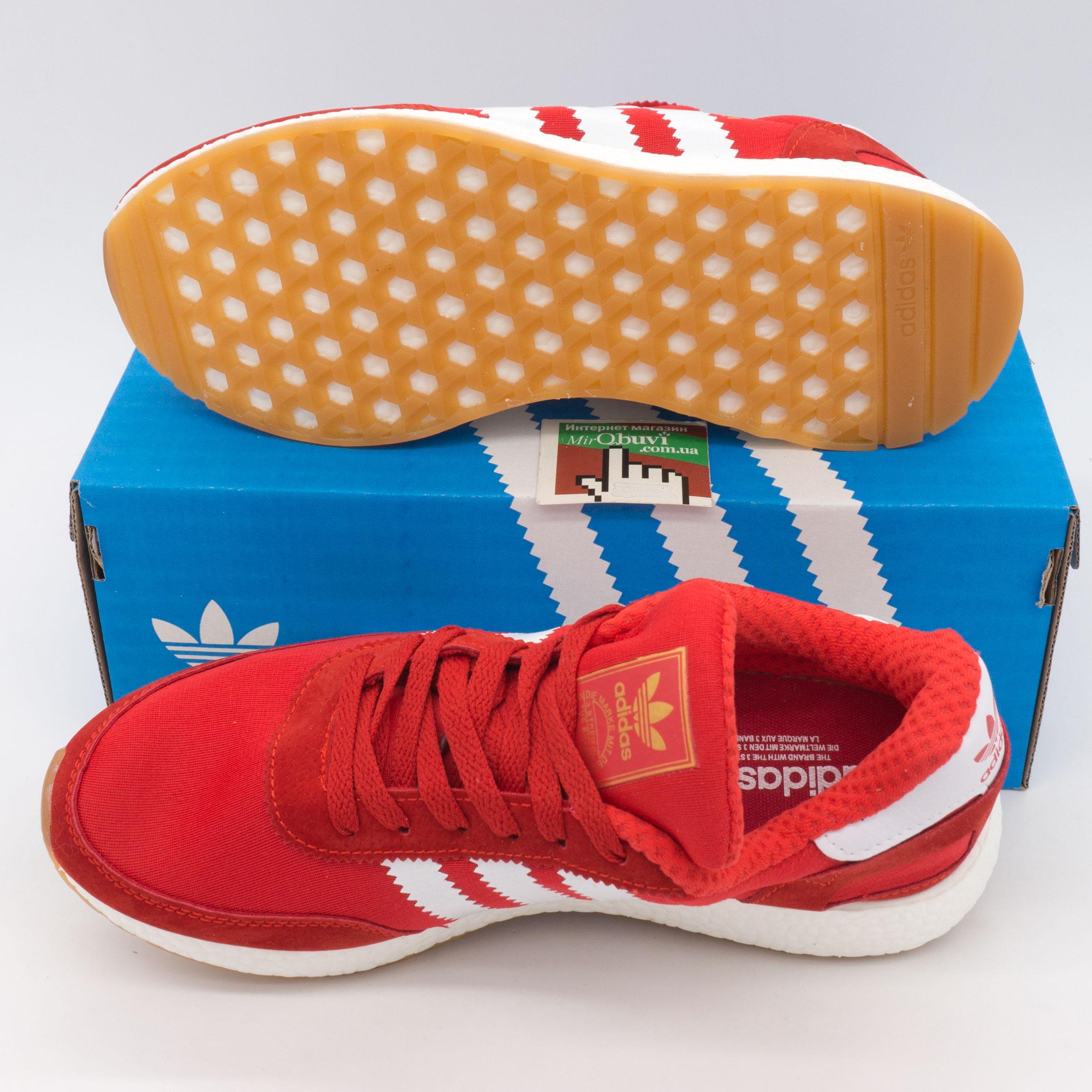 фото bottom Кроссовки для бега Adidas Iniki Runner красные bottom