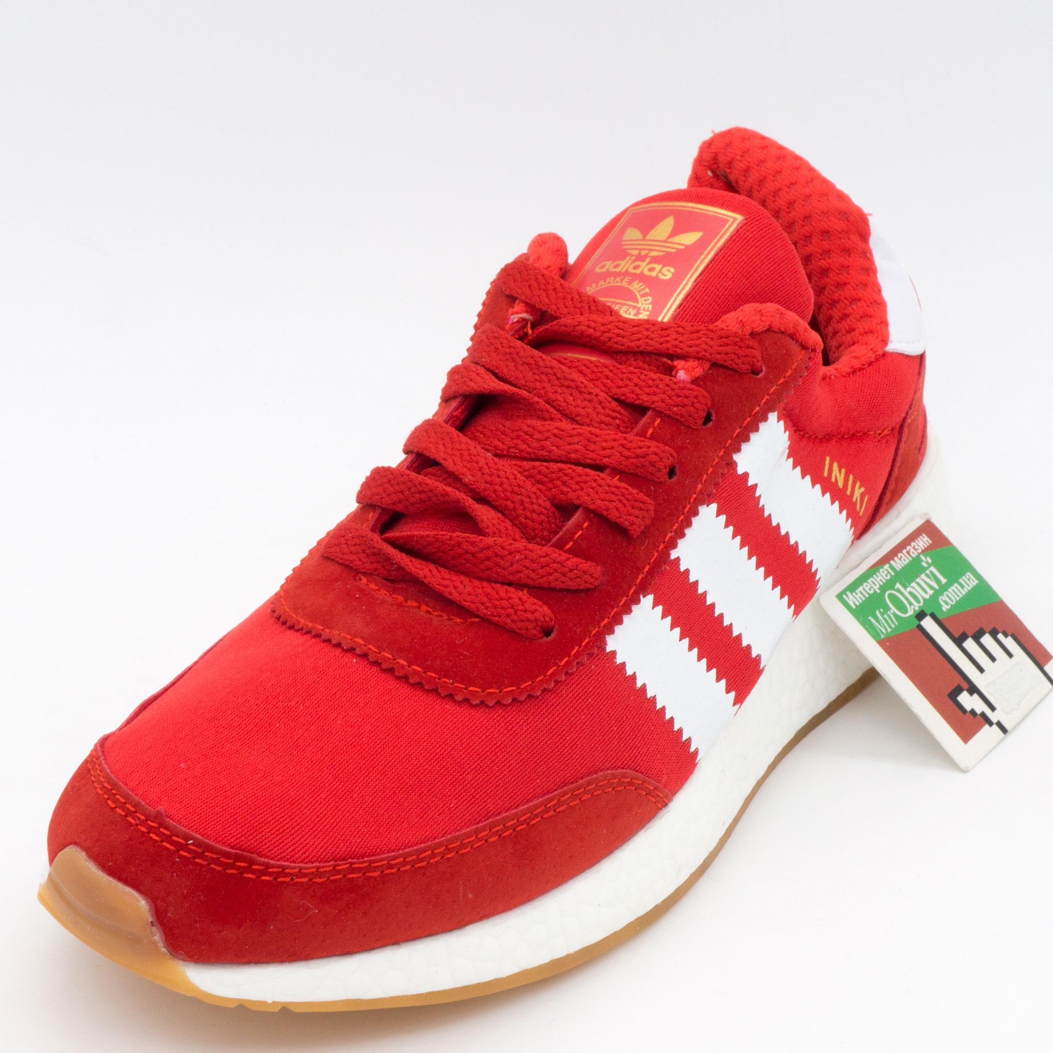 фото front Кроссовки для бега Adidas Iniki Runner красные front