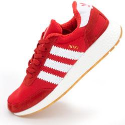 фото Кроссовки для бега Adidas Iniki Runner красные