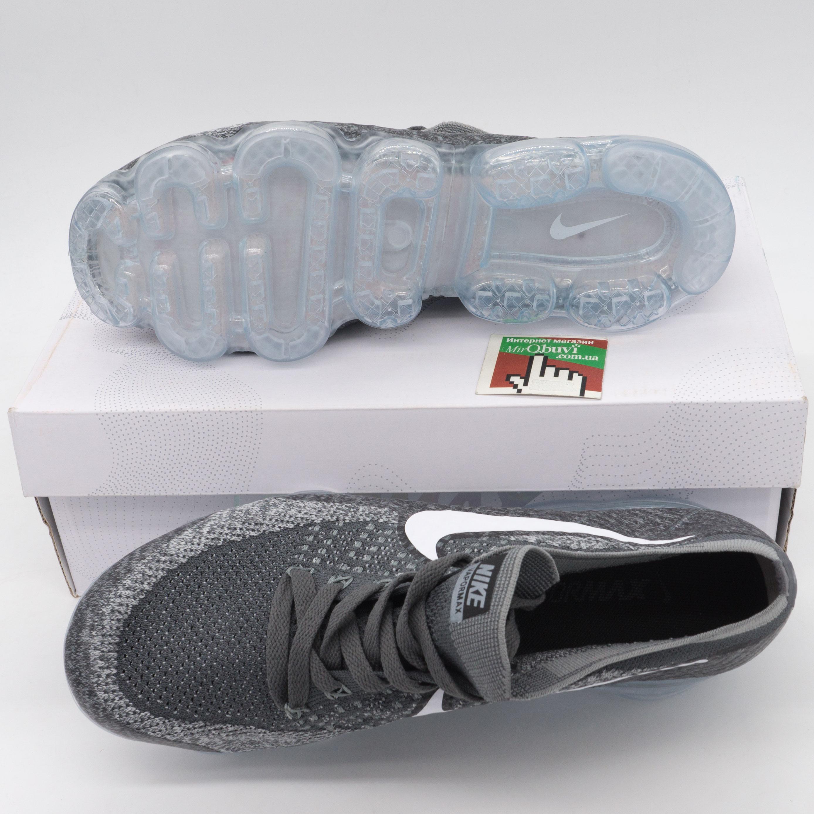 фото bottom Кроссовки для бега Nike Air VaporMax темно серые. Топ качество! bottom