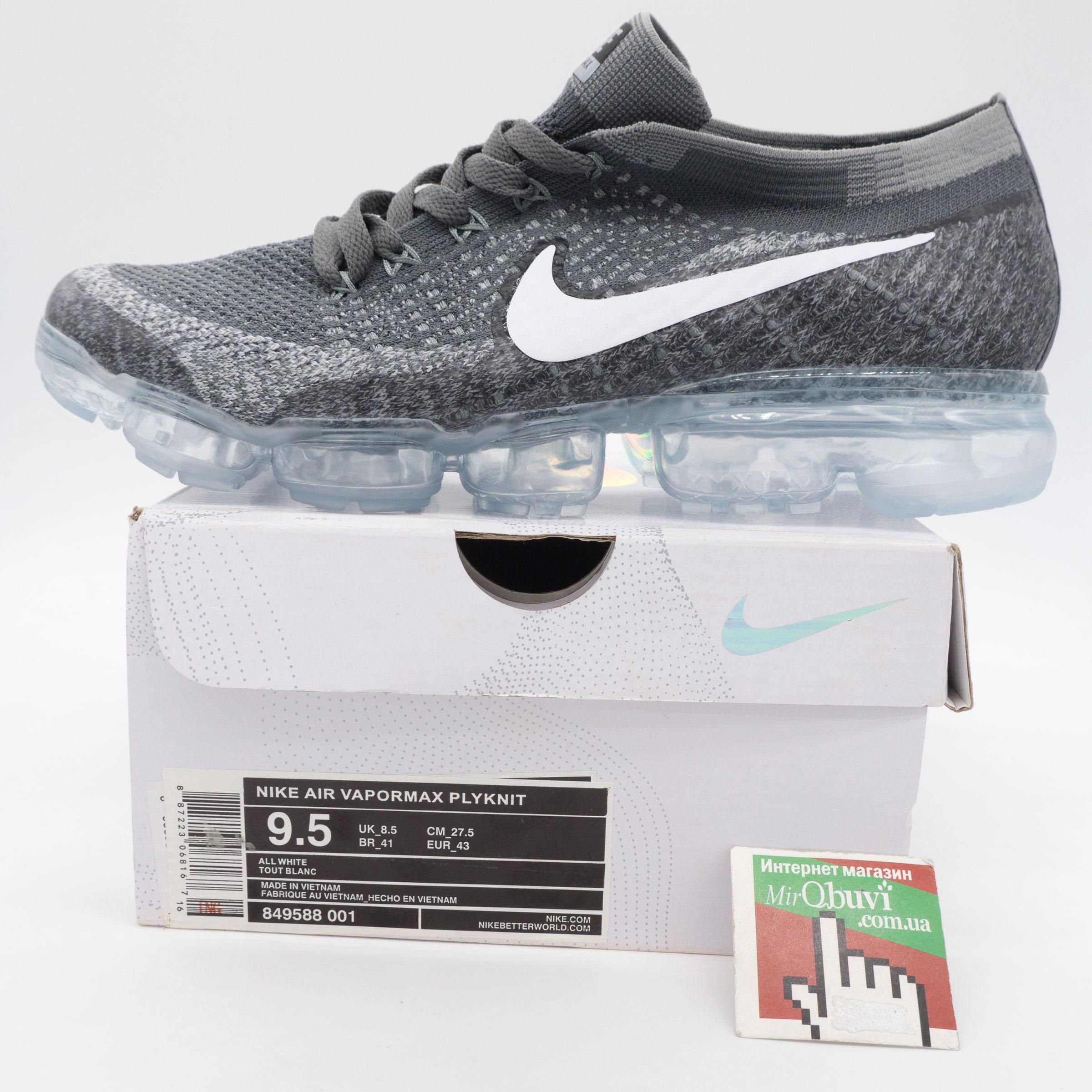 большое фото №5 Кроссовки для бега Nike Air VaporMax темно серые. Топ качество!