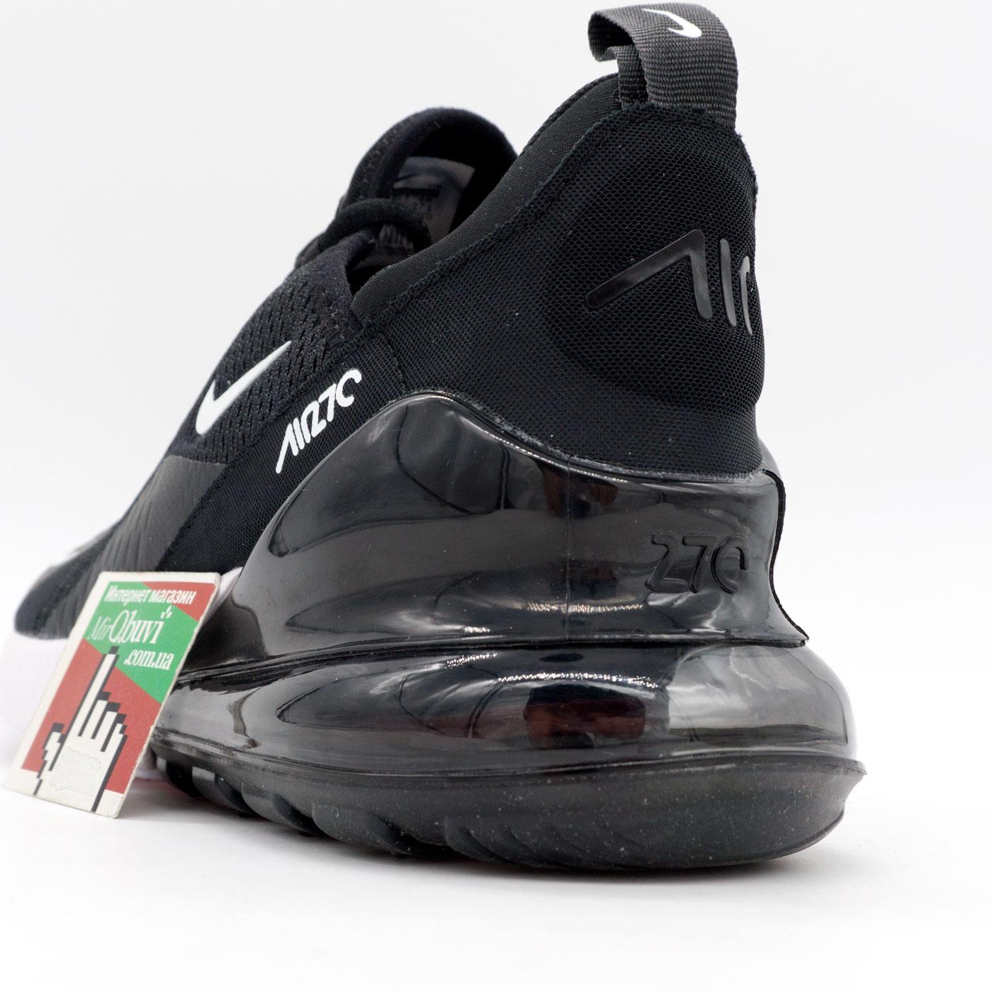фото back Кроссовки Nike Air Max 270 Flyknit черно белые. Топ качество! back