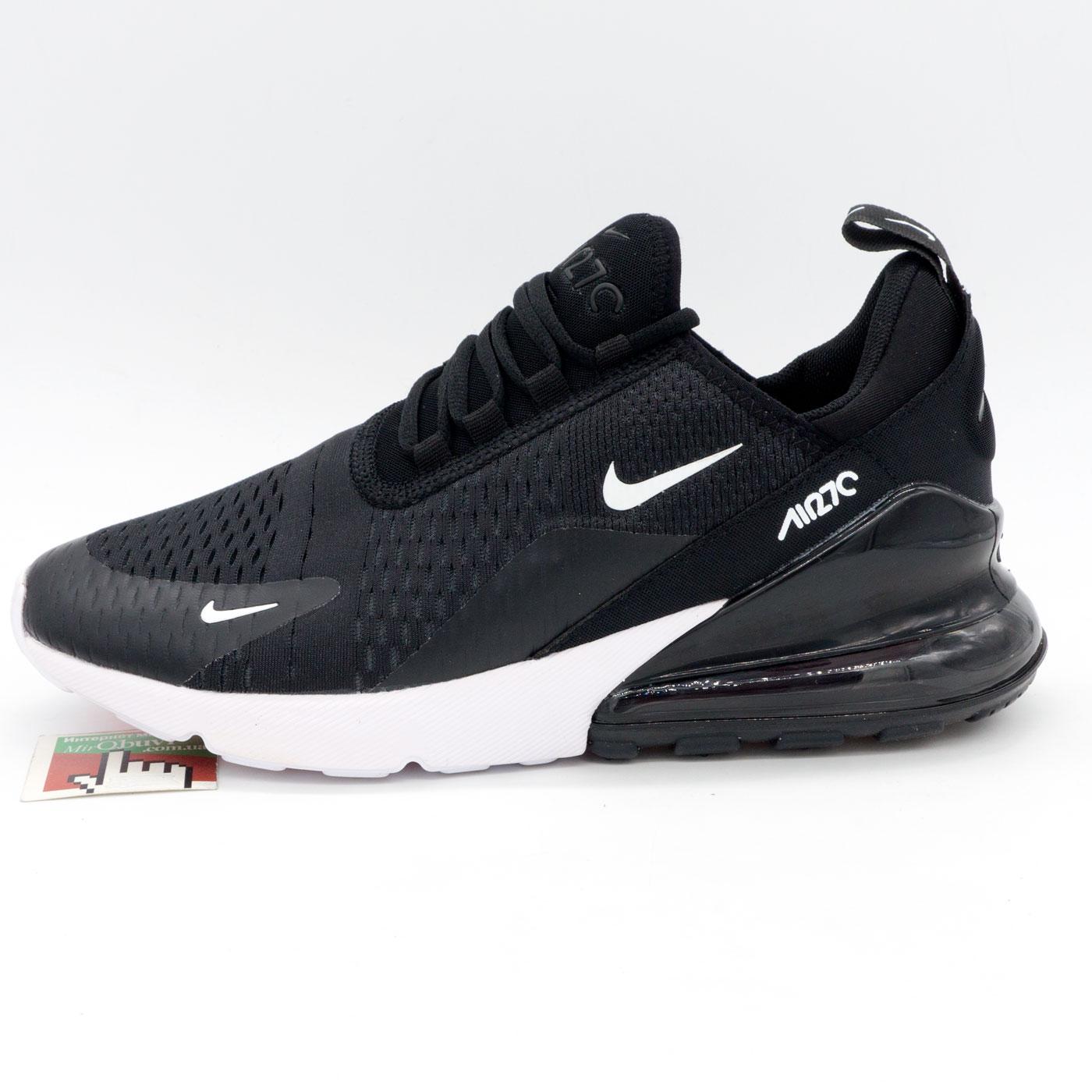 фото front Кроссовки Nike Air Max 270 Flyknit черно белые. Топ качество! front