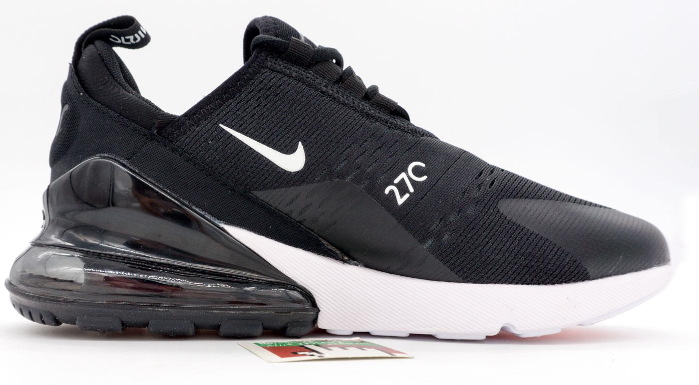 большое фото №5 Кроссовки Nike Air Max 270 Flyknit черно белые. Топ качество!