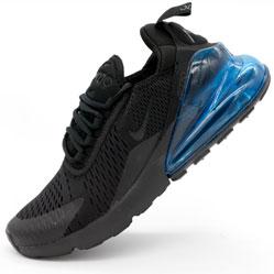 Кроссовки Nike Air Max 270 Flyknit черные с синим. Топ качество!