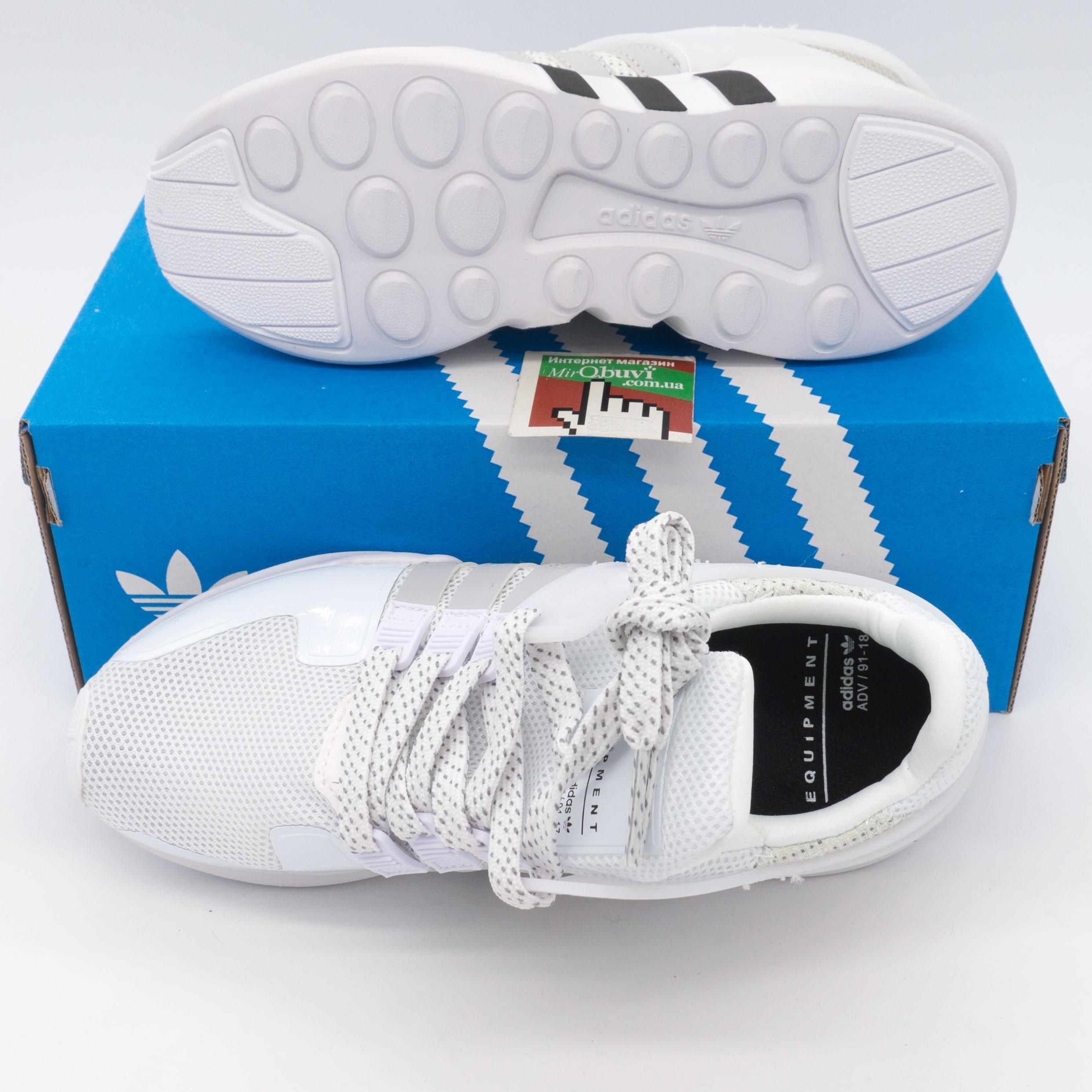 фото bottom Кроссовки Adidas Equipment Support (EQT) белые с серым. Топ качество! bottom