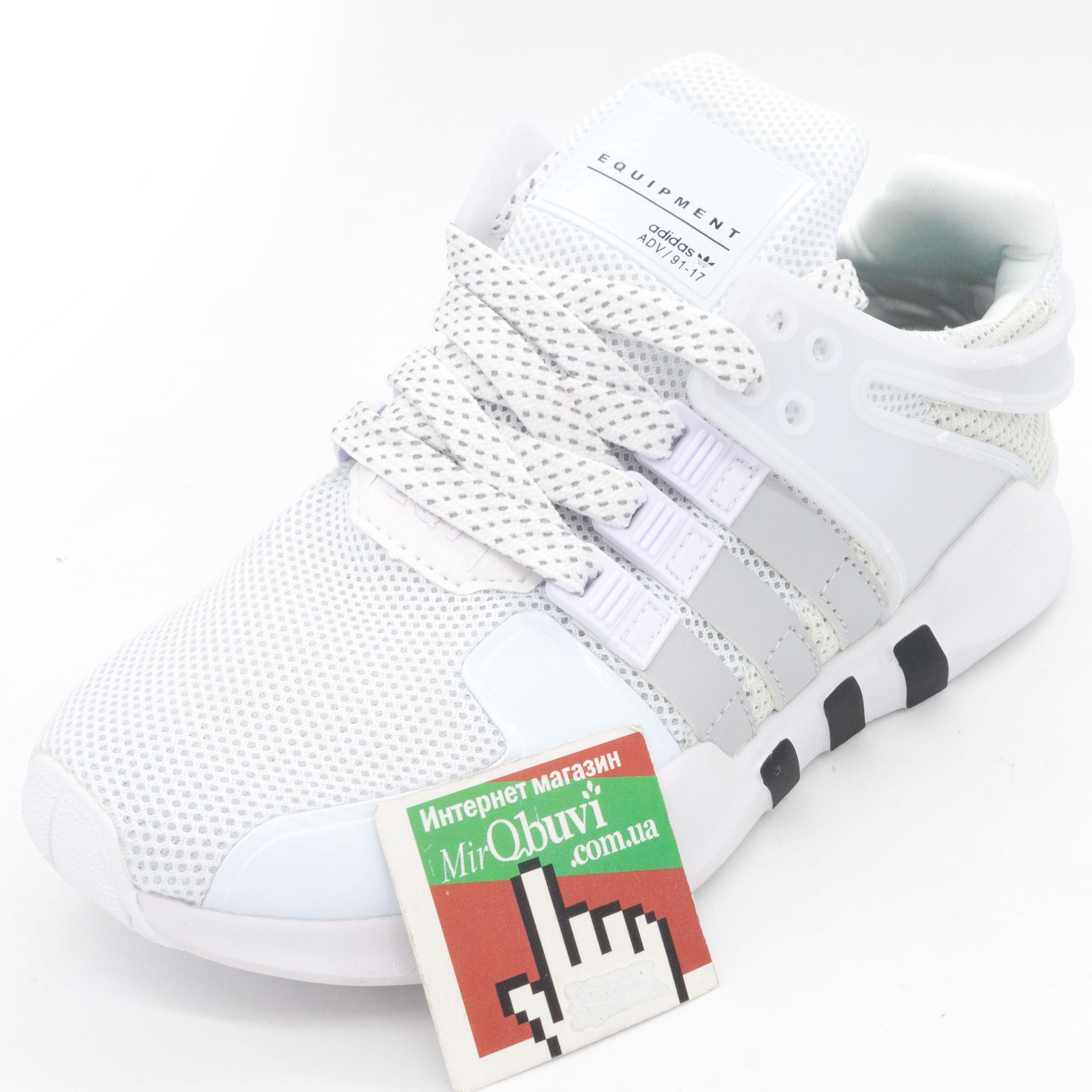 фото front Кроссовки Adidas Equipment Support (EQT) белые с серым. Топ качество! front