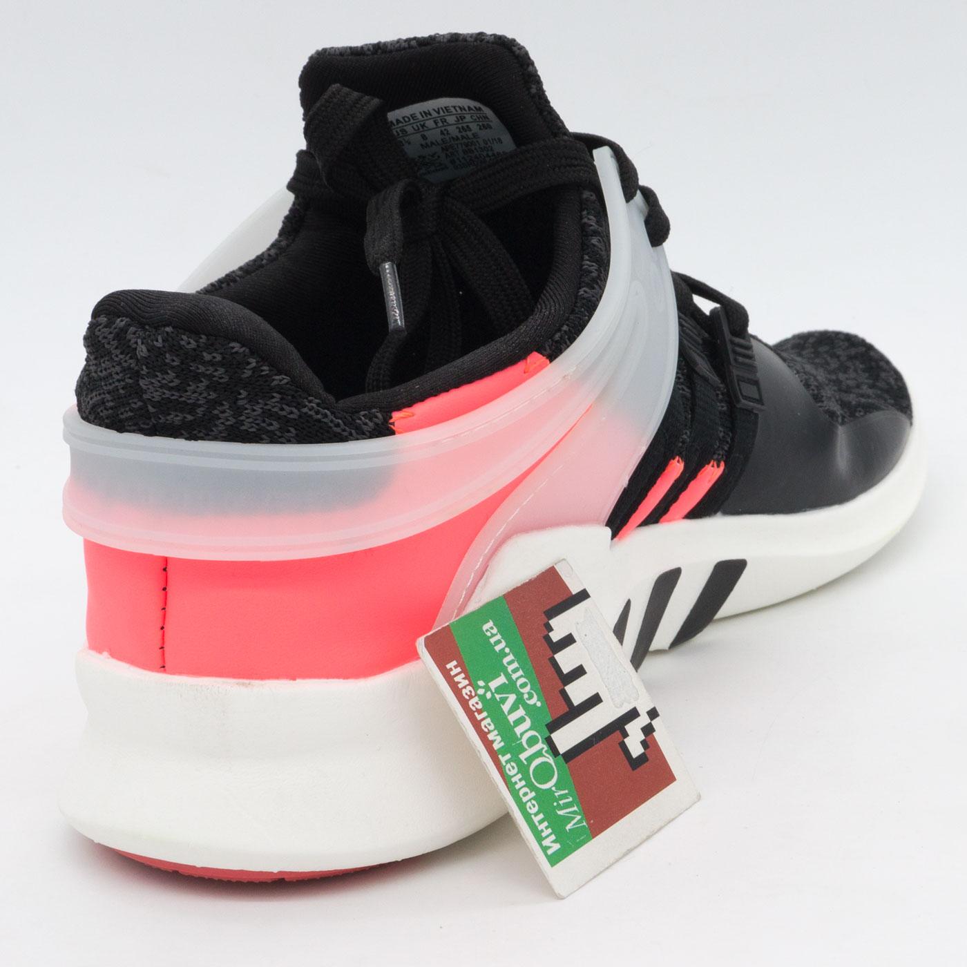 фото back Кроссовки Adidas Equipment Support (EQT) черные с розовым. Топ качество! back