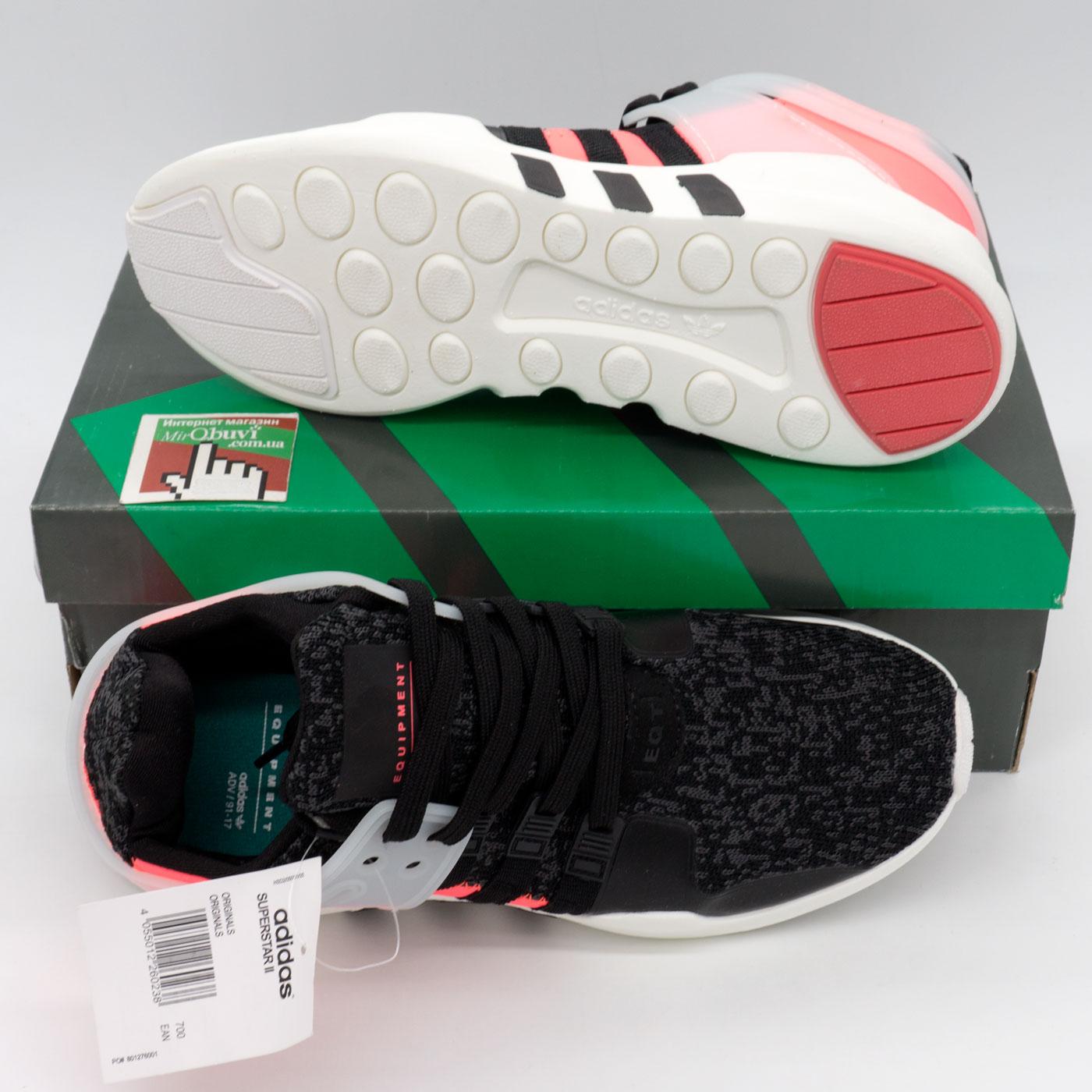 фото bottom Кроссовки Adidas Equipment Support (EQT) черные с розовым. Топ качество! bottom