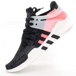 Кроссовки Adidas Equipment Support (EQT) черные с розовым. Топ качество!