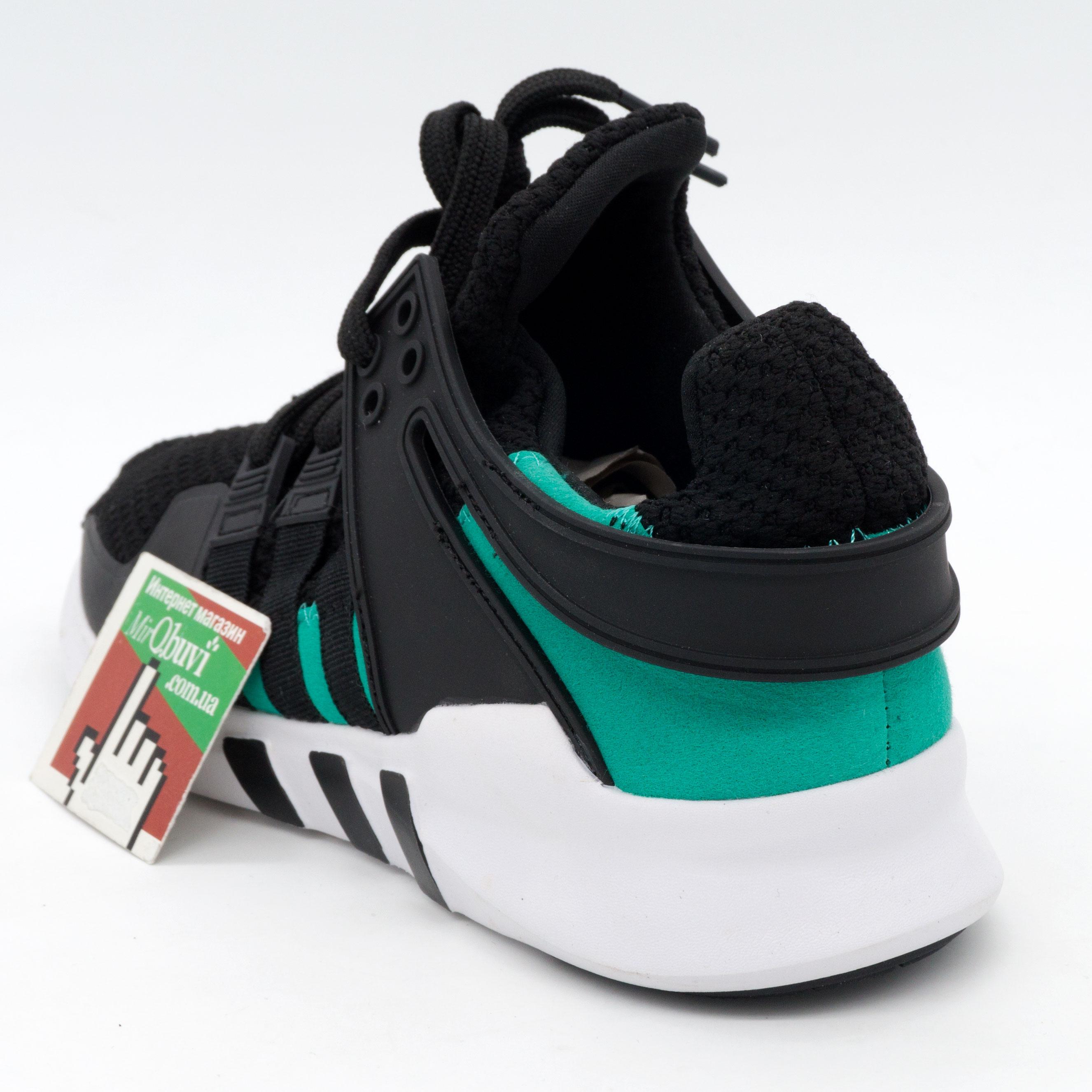 фото back Кроссовки Adidas Equipment Support (EQT) черные с зеленым. Топ качество! back