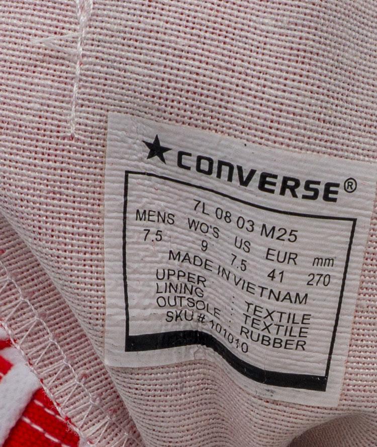 большое фото №6 Кеды Converse высокие красные - Топ качество!