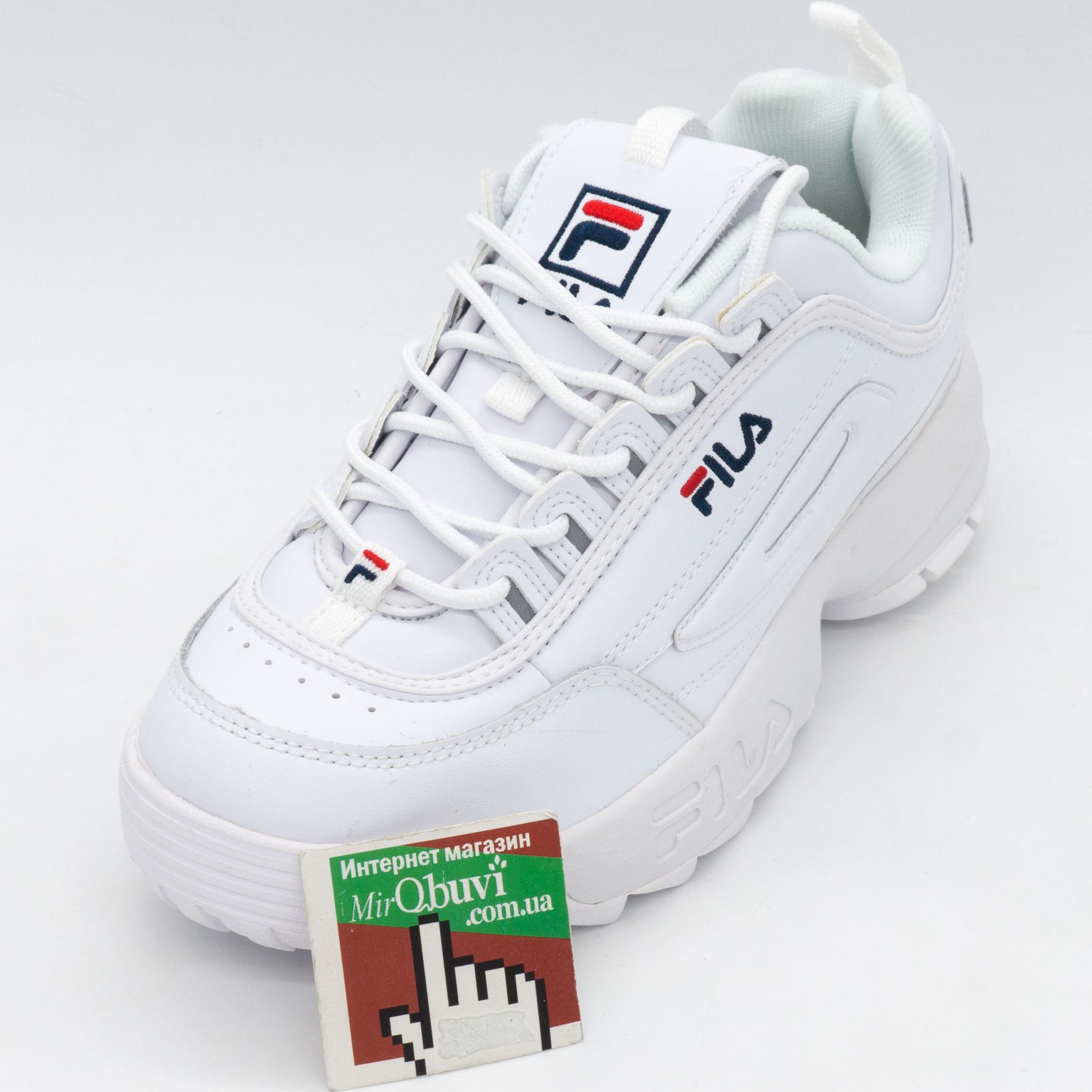 фото front Белые кроссовки FILA Disruptor 2. Топ качество! front