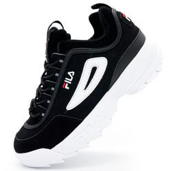 Женские черно белые кроссовки FILA Disruptor 2. Топ качество!