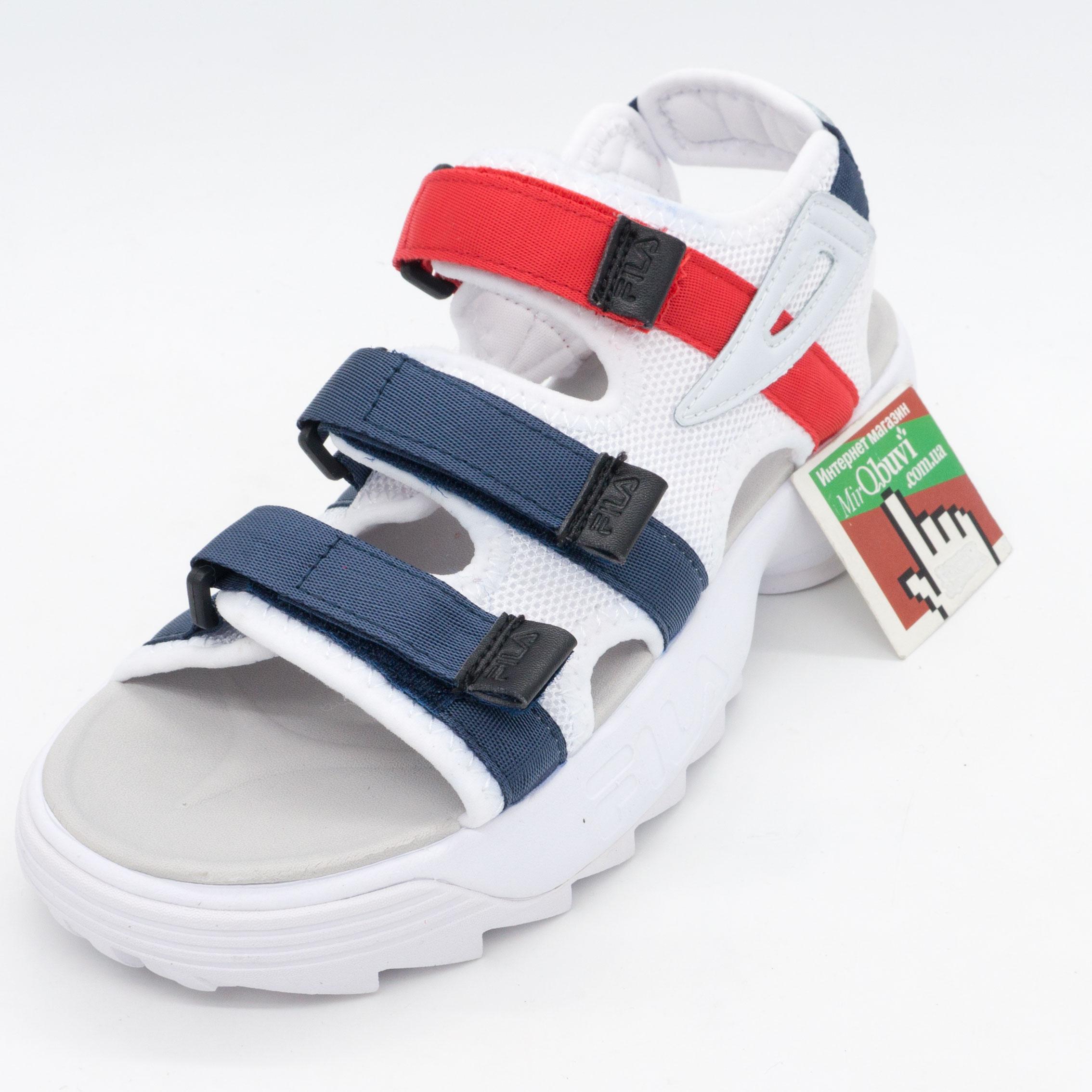 фото front Женские бело синие сандали FILA Disruptor 2. Топ качество! front