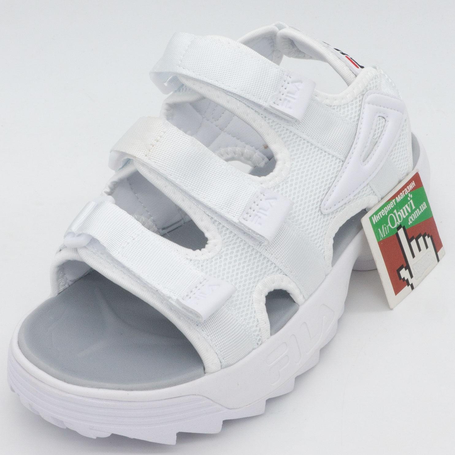 фото front Женские белые сандали FILA Disruptor 2. Топ качество! front