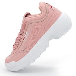 Женские розовые кроссовки FILA Disruptor 2