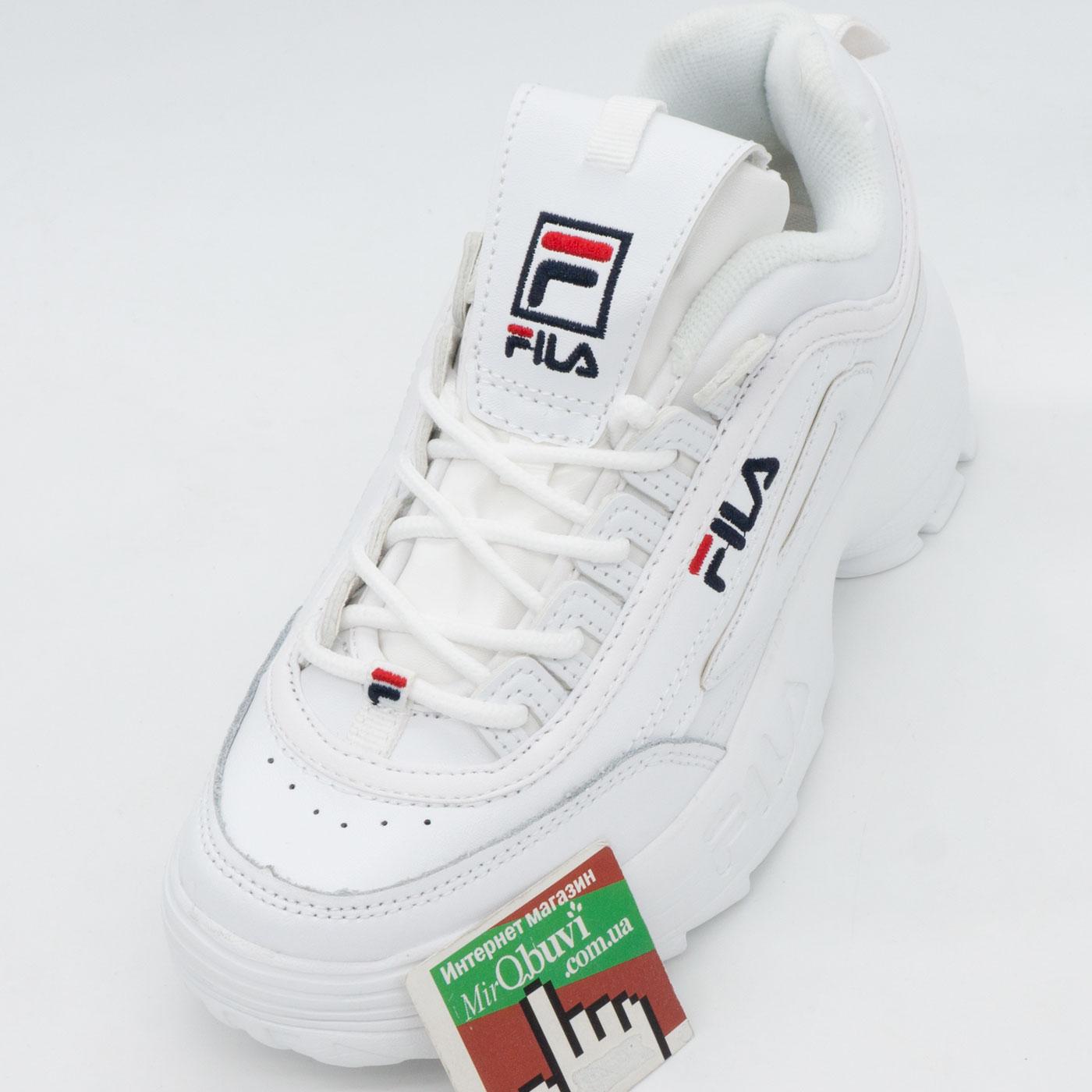 фото front Женские белые кроссовки FILA Disruptor 2 front