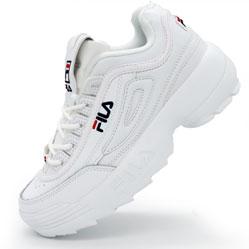 Женские белые кроссовки FILA Disruptor 2