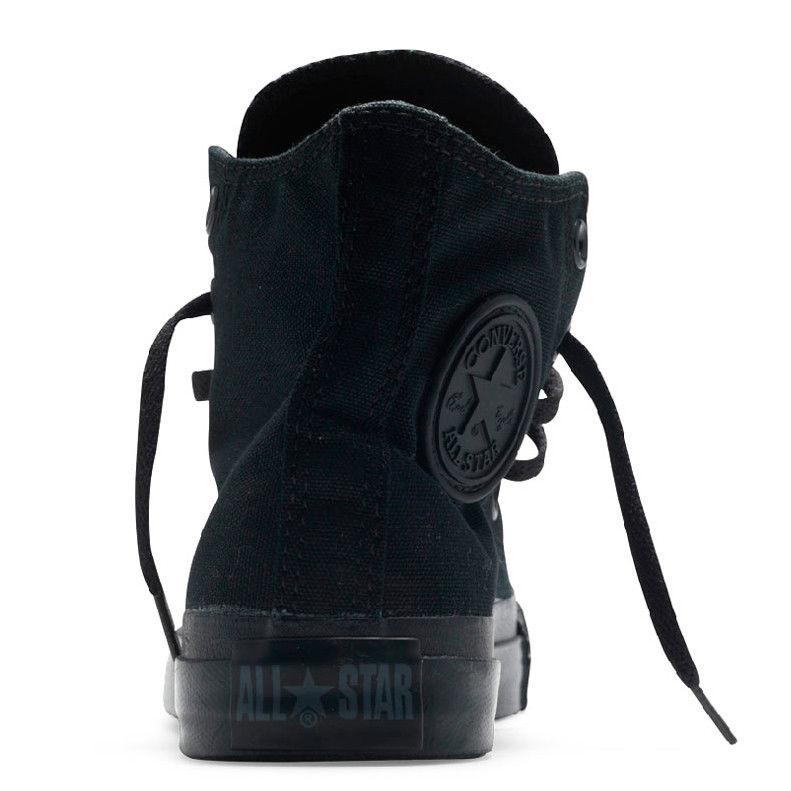 фото front Converse высокие полностью черные - Оригинал! front