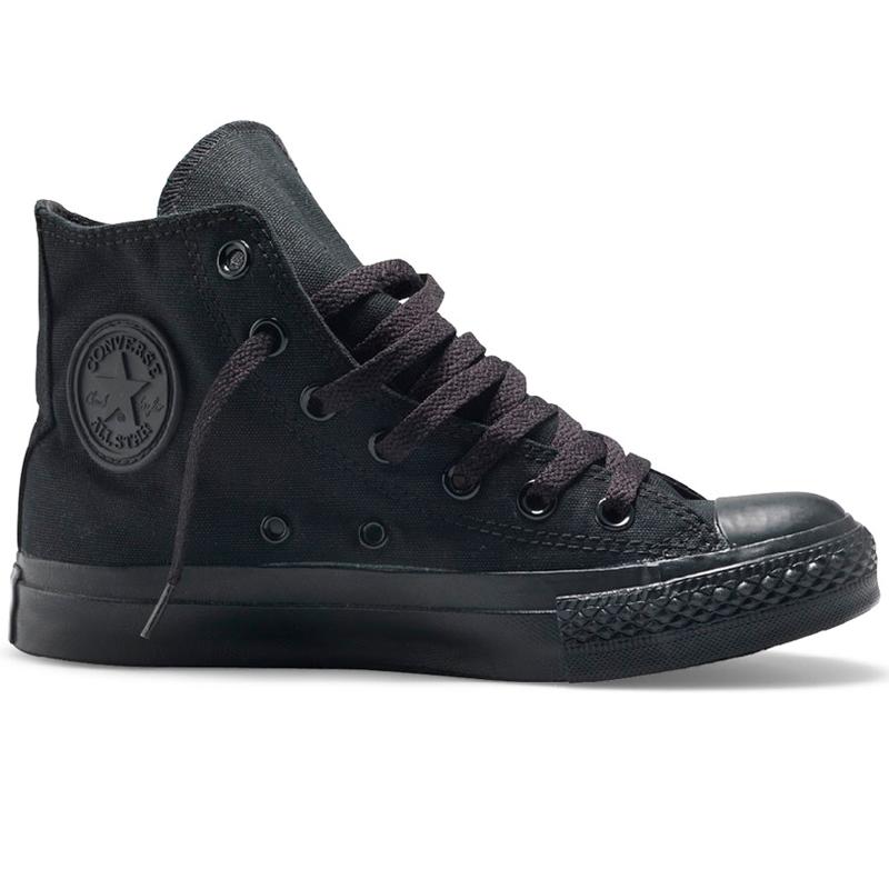 фото main Converse высокие полностью черные - Оригинал! main