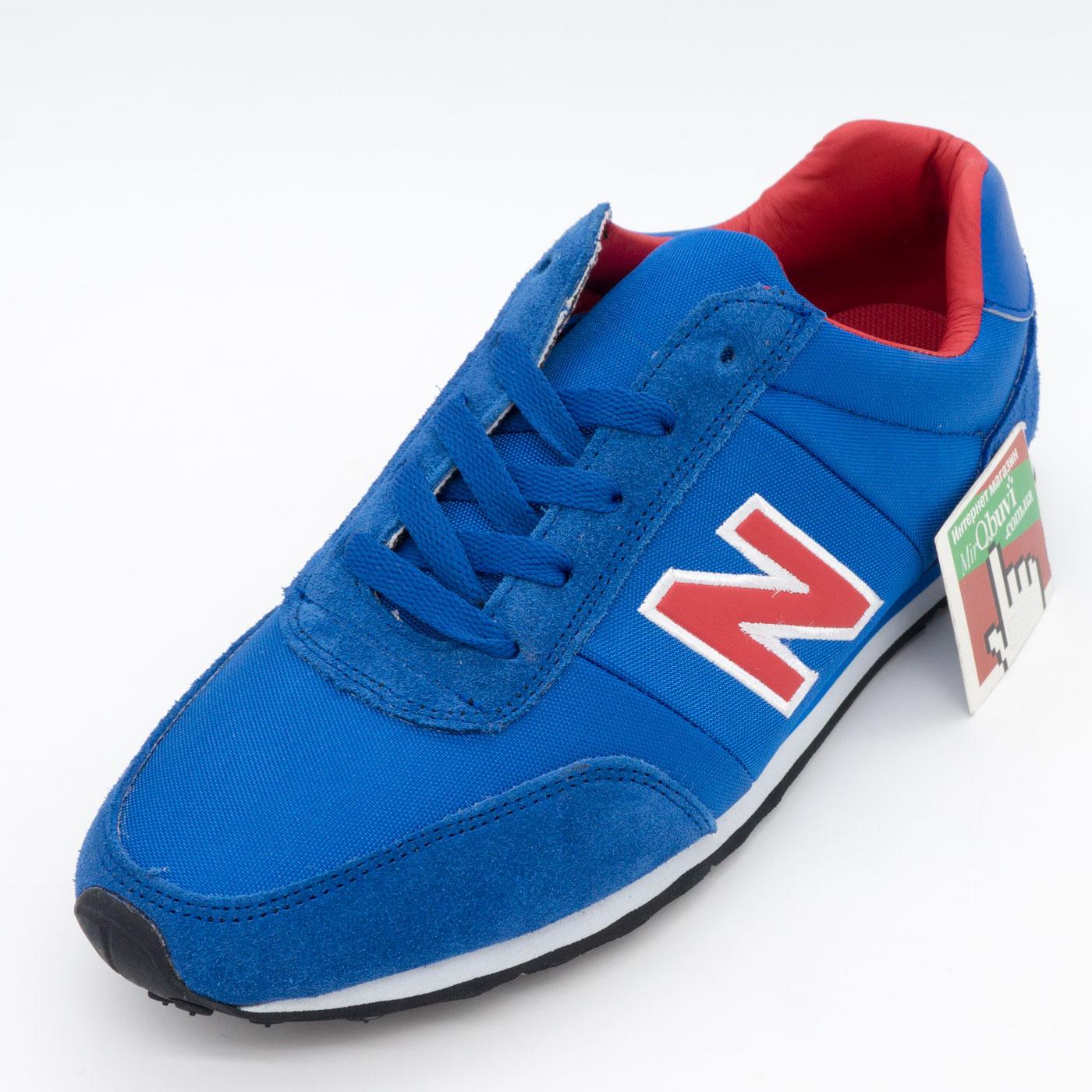 фото front Кроссовки New Balance 356 синие с красным front