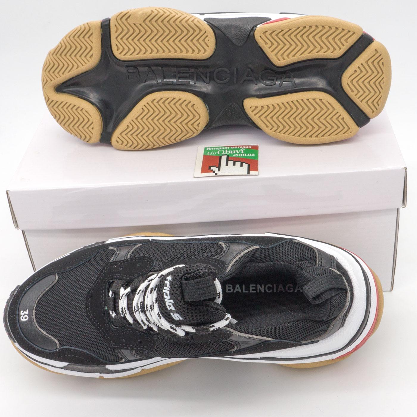 фото bottom Женские черно белые кроссовки Balenciaga 2. Топ качество! bottom