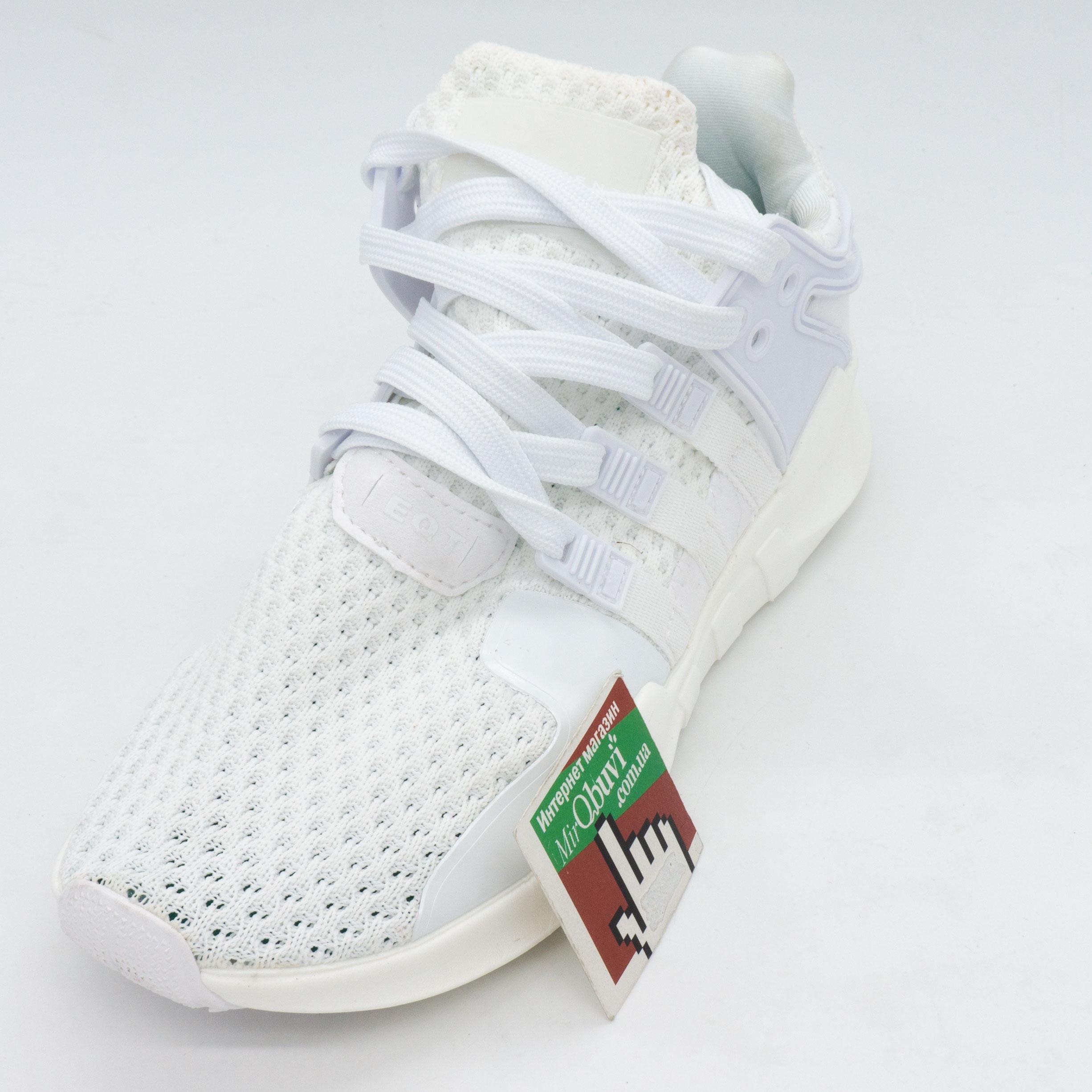 фото front Кроссовки Adidas Equipment support (EQT) полностью белые. Топ качество! front