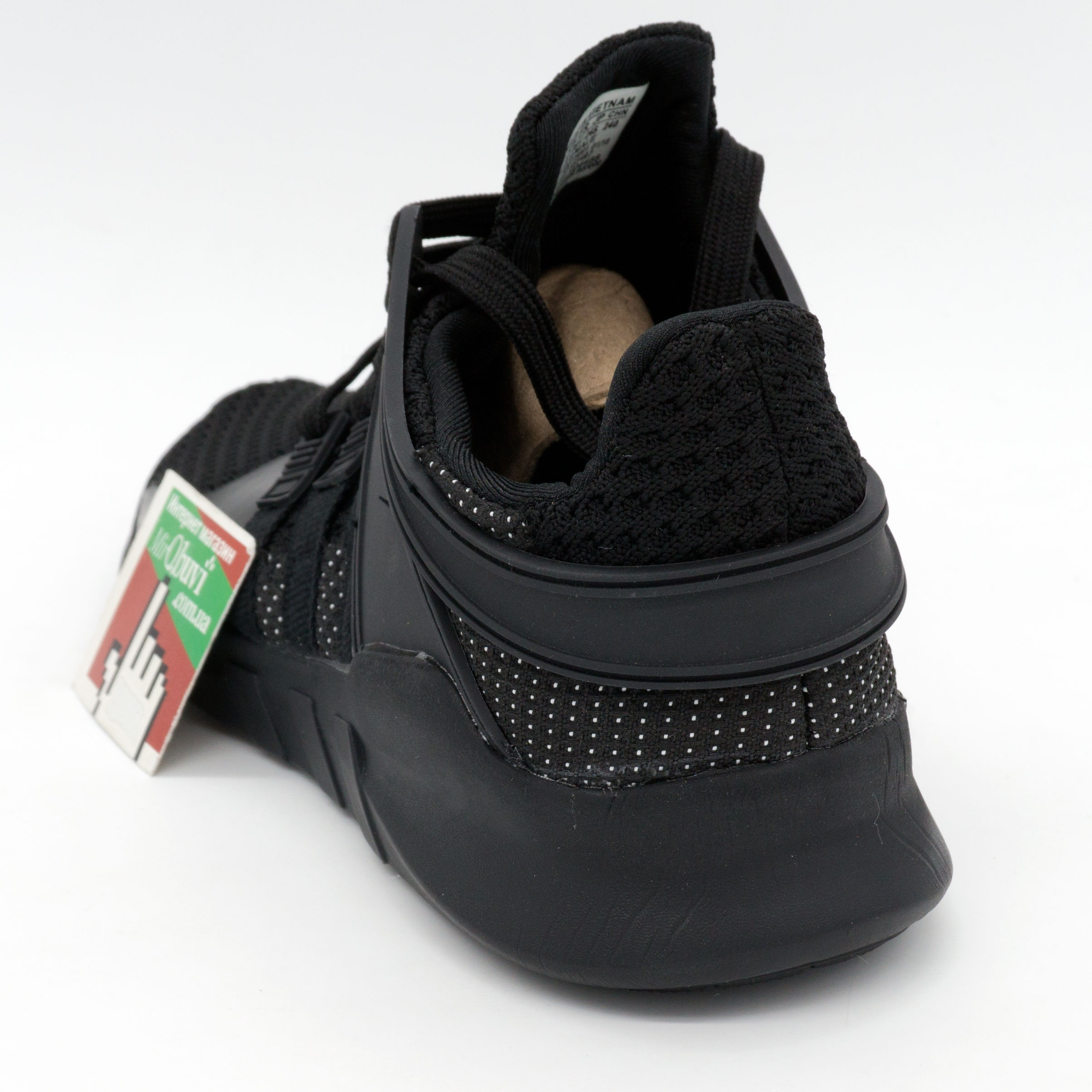 фото back Кроссовки Adidas Equipment support (EQT) полностью черные. Топ качество! back