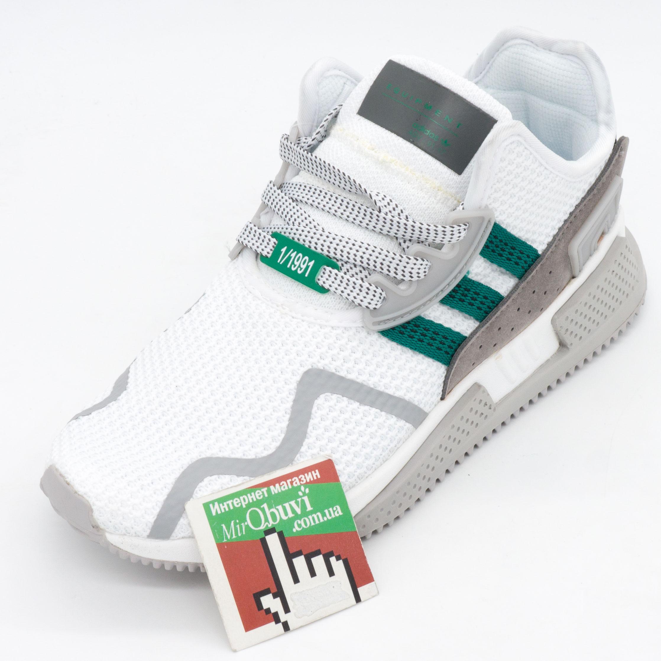 фото front Кроссовки Adidas EQT Cushion adv белые с зеленым. Топ качество! front