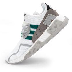 Кроссовки Adidas EQT Cushion adv белые с зеленым. Топ качество!