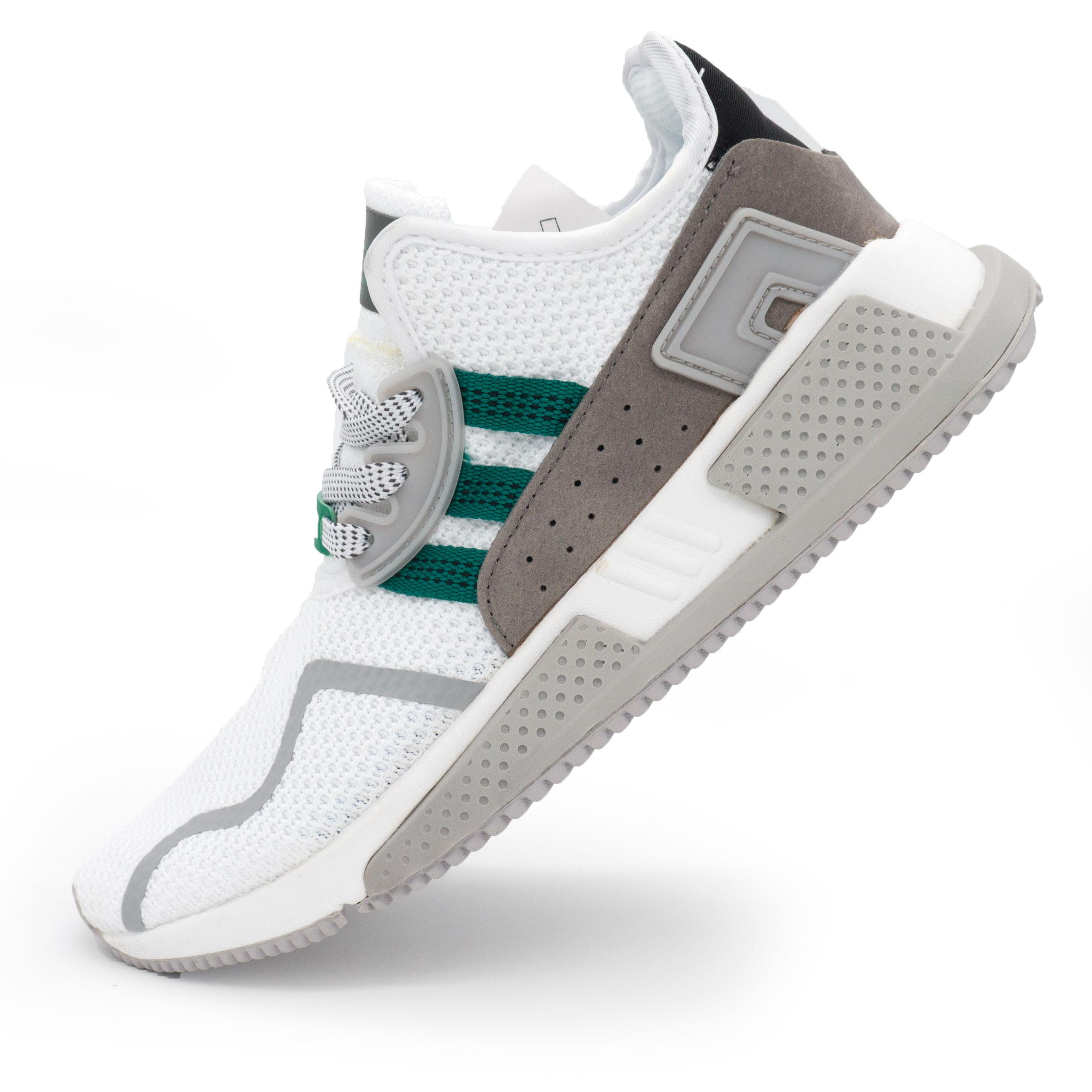 фото main Кроссовки Adidas EQT Cushion adv белые с зеленым. Топ качество! main