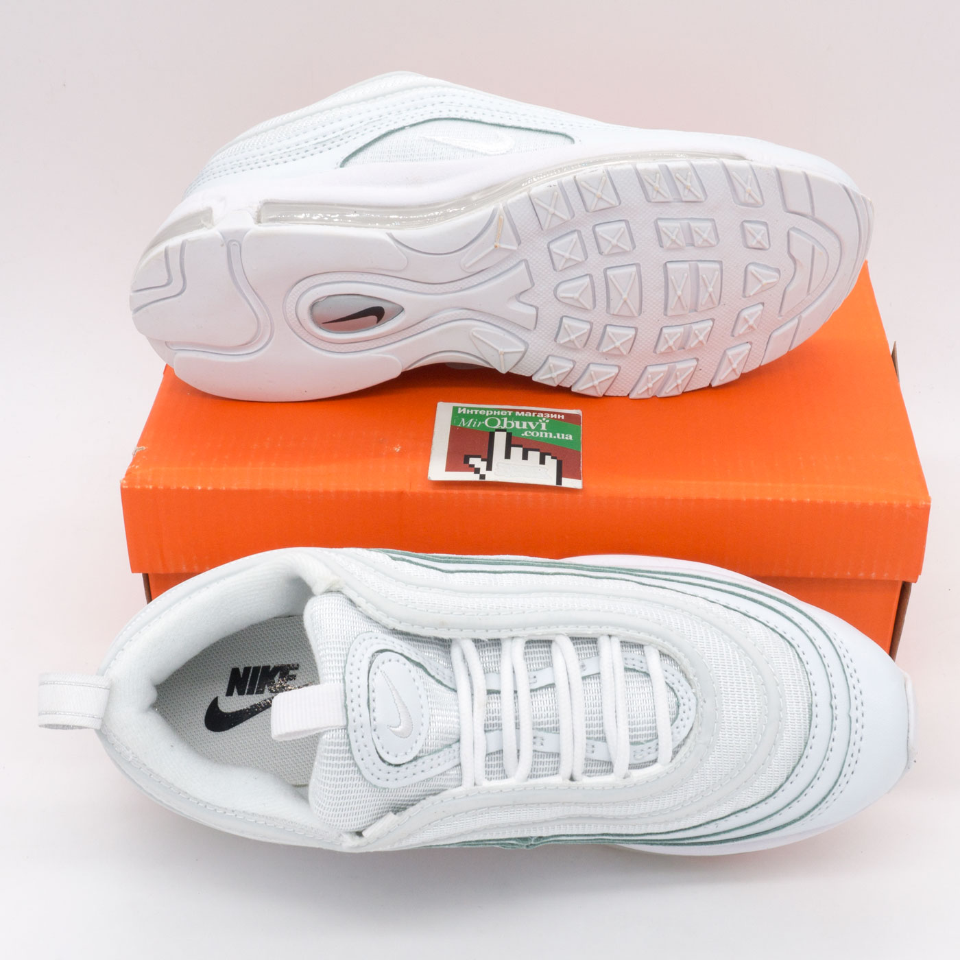 фото bottom Женские кроссовки Nike air max 97 белые Vietnam bottom