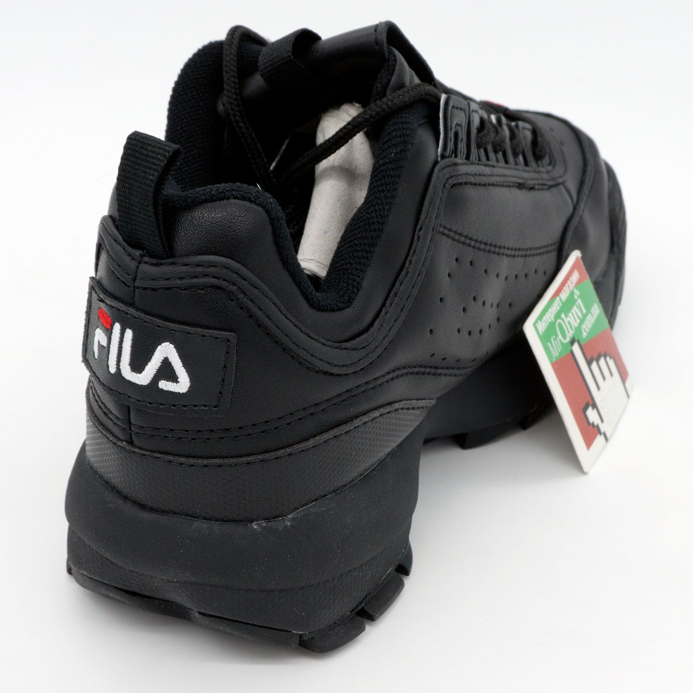 фото back Женские полностью черные кроссовки FILA Disruptor 2. Топ качество! back