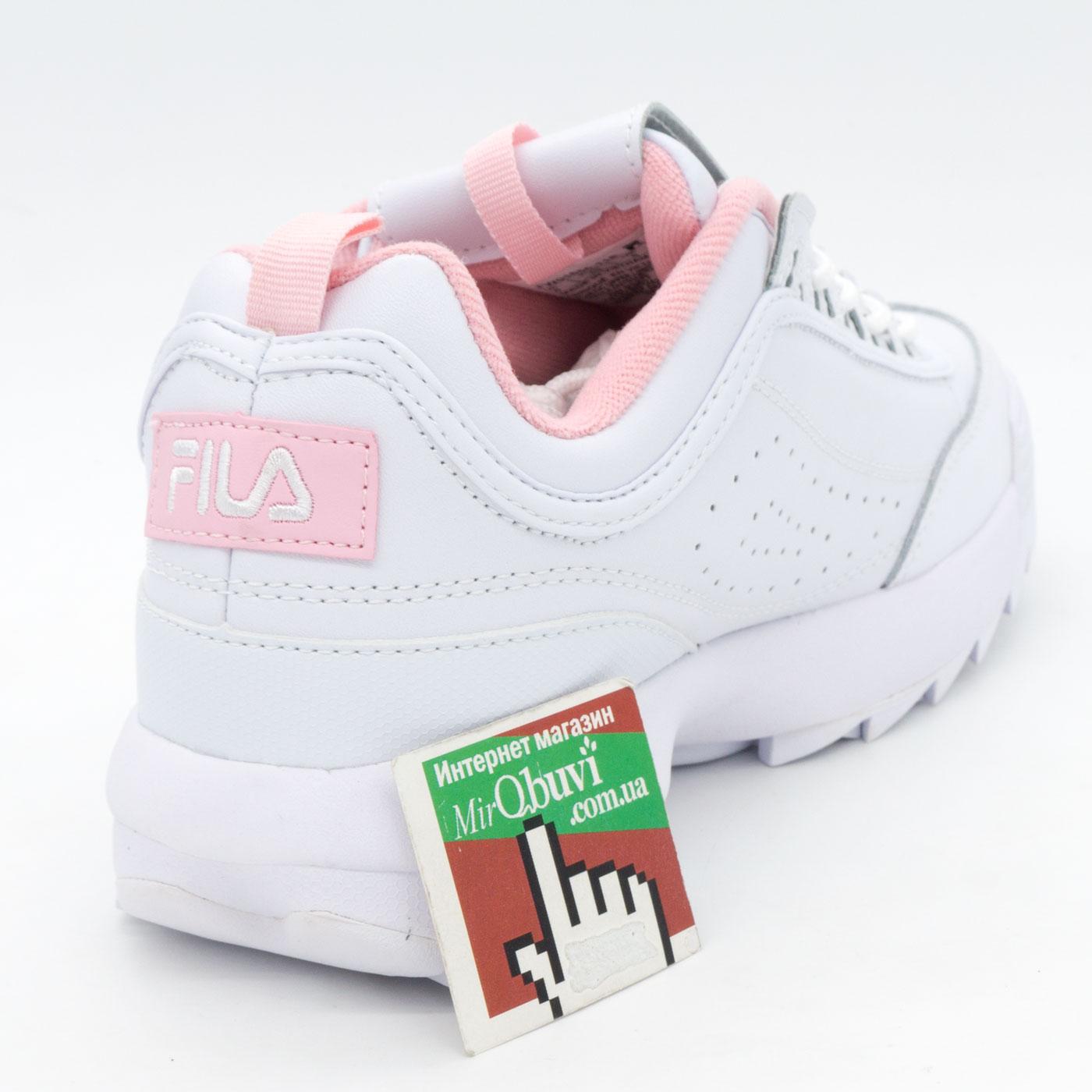фото back Женские белые с розовым кроссовки FILA Disruptor 2. Топ качество! back