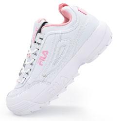 Женские белые с розовым кроссовки FILA Disruptor 2. Топ качество!