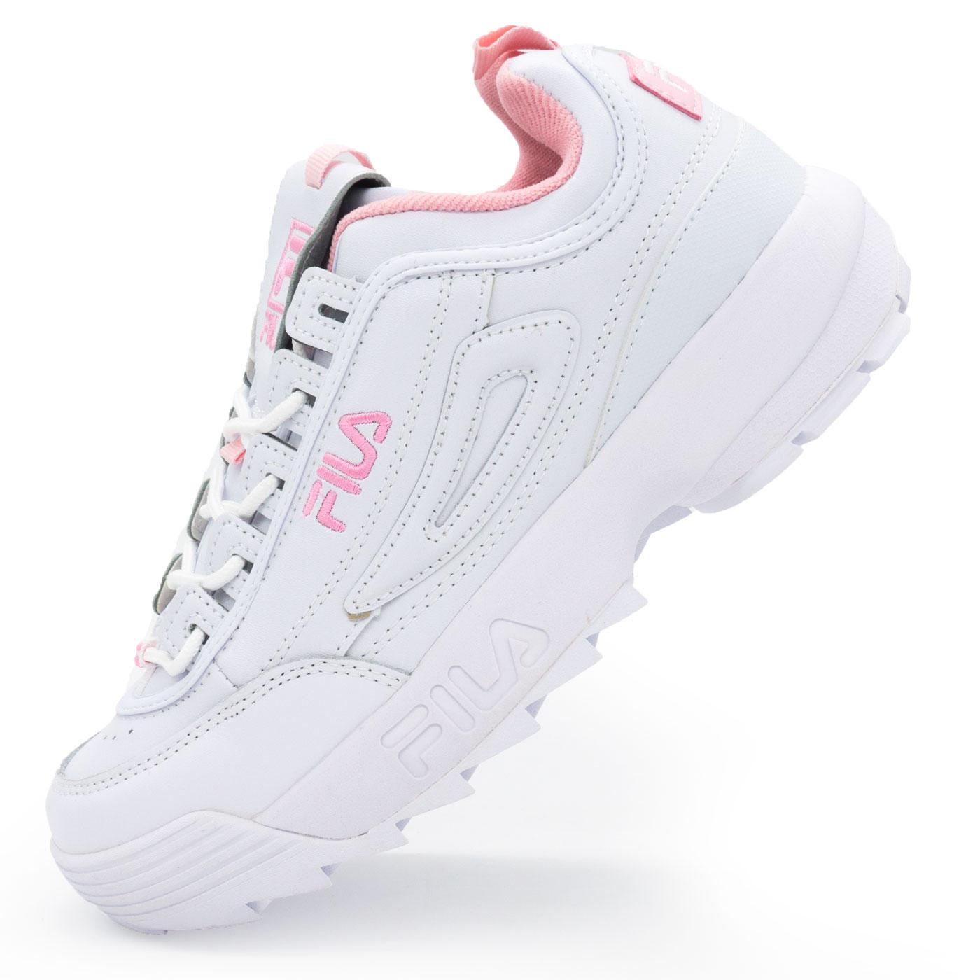 фото main Женские белые с розовым кроссовки FILA Disruptor 2. Топ качество! main