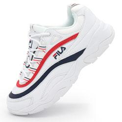 Женские белые кроссовки FILA Ray с синим. Топ качество!