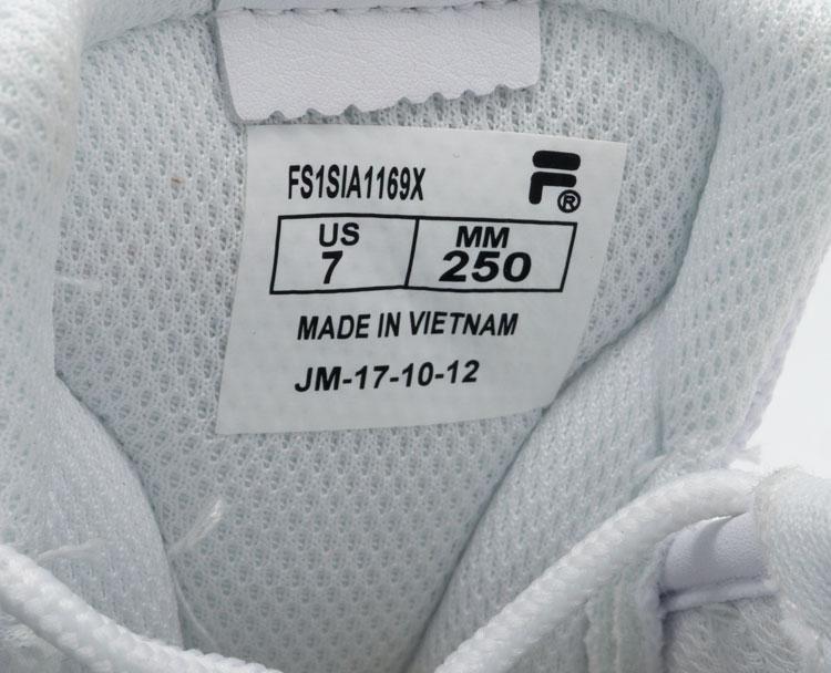 большое фото №5 Женские белые кроссовки FILA Ray серебристые. Топ качество!