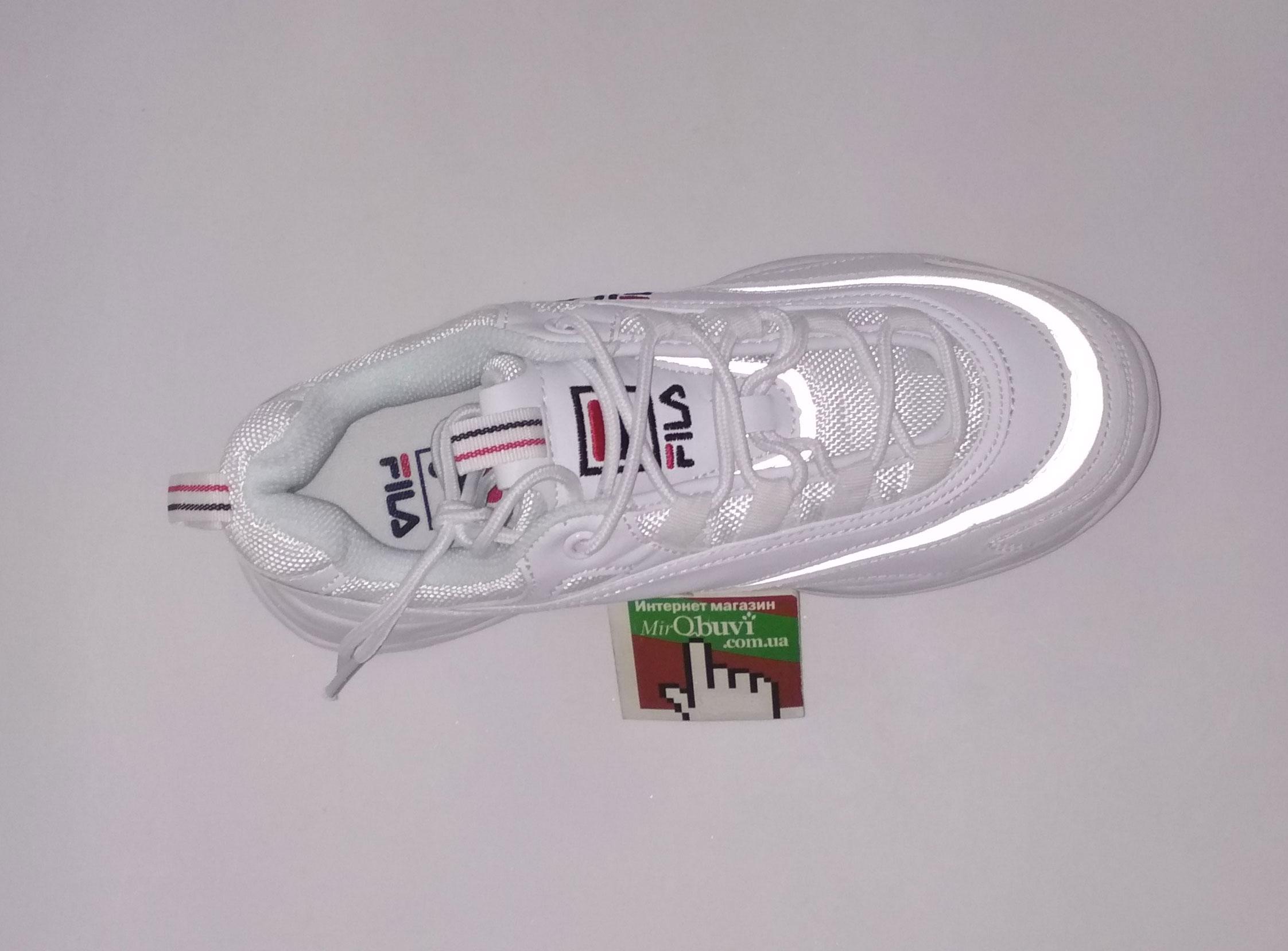 большое фото №5 Женские белые кроссовки FILA Ray. Топ качество!