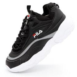 Женские черные кроссовки FILA Ray. Топ качество!