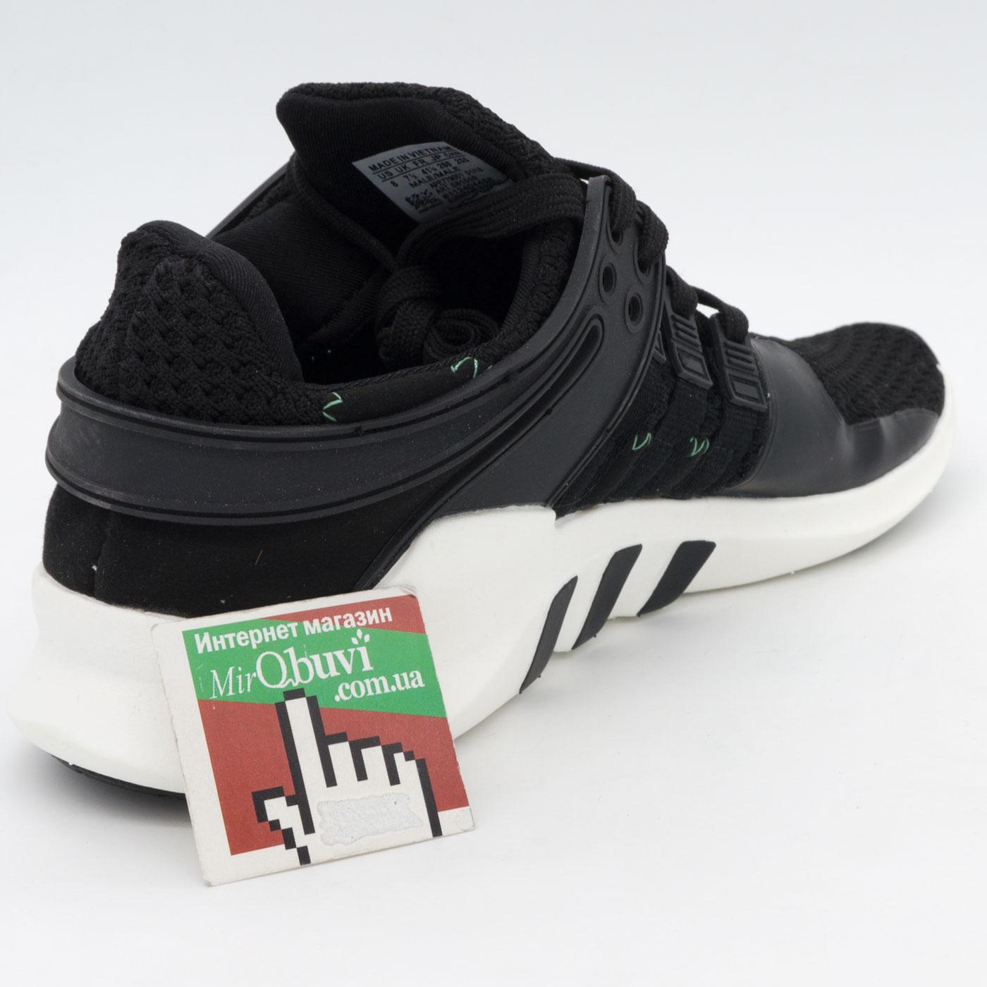 фото back Кроссовки Adidas Equipment Support (EQT) черно-белые. Топ качество! back