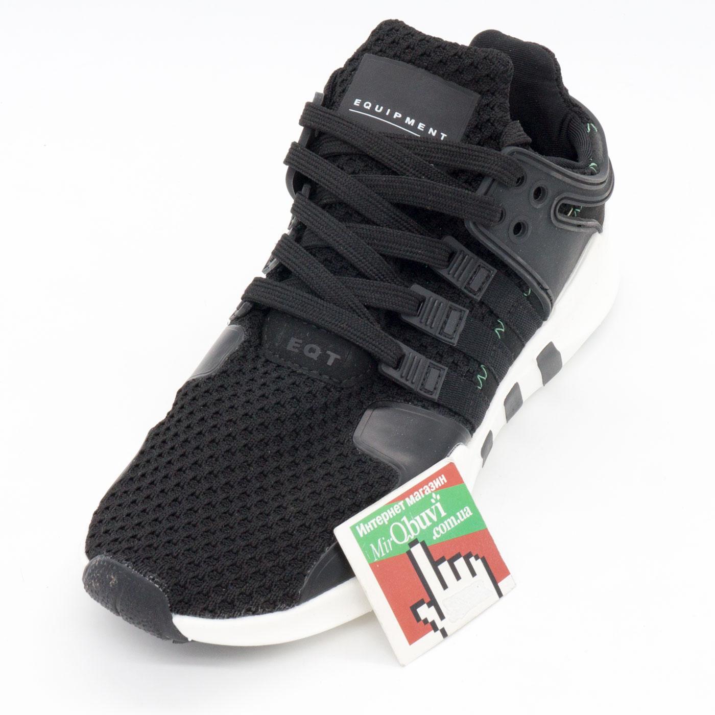 фото front Кроссовки Adidas Equipment Support (EQT) черно-белые. Топ качество! front