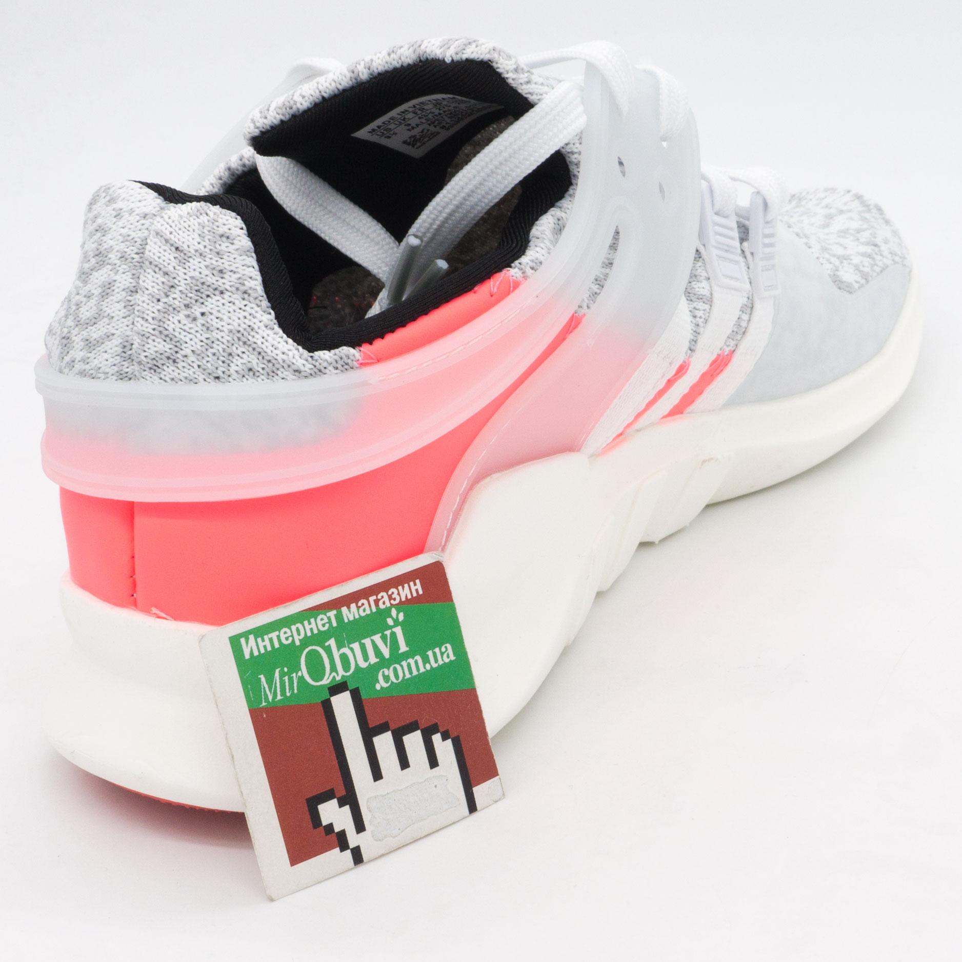 фото back Кроссовки Adidas Equipment Support (EQT) белые с розовым. Топ качество! back