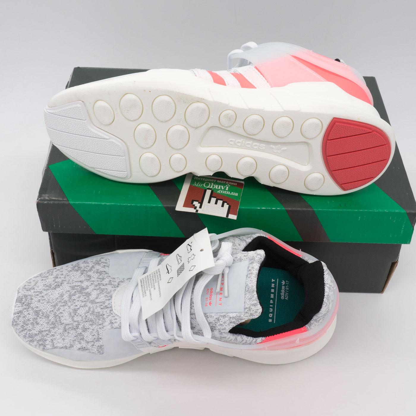 фото bottom Кроссовки Adidas Equipment Support (EQT) белые с розовым. Топ качество! bottom