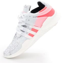 Кроссовки Adidas Equipment Support (EQT) белые с розовым. Топ качество!