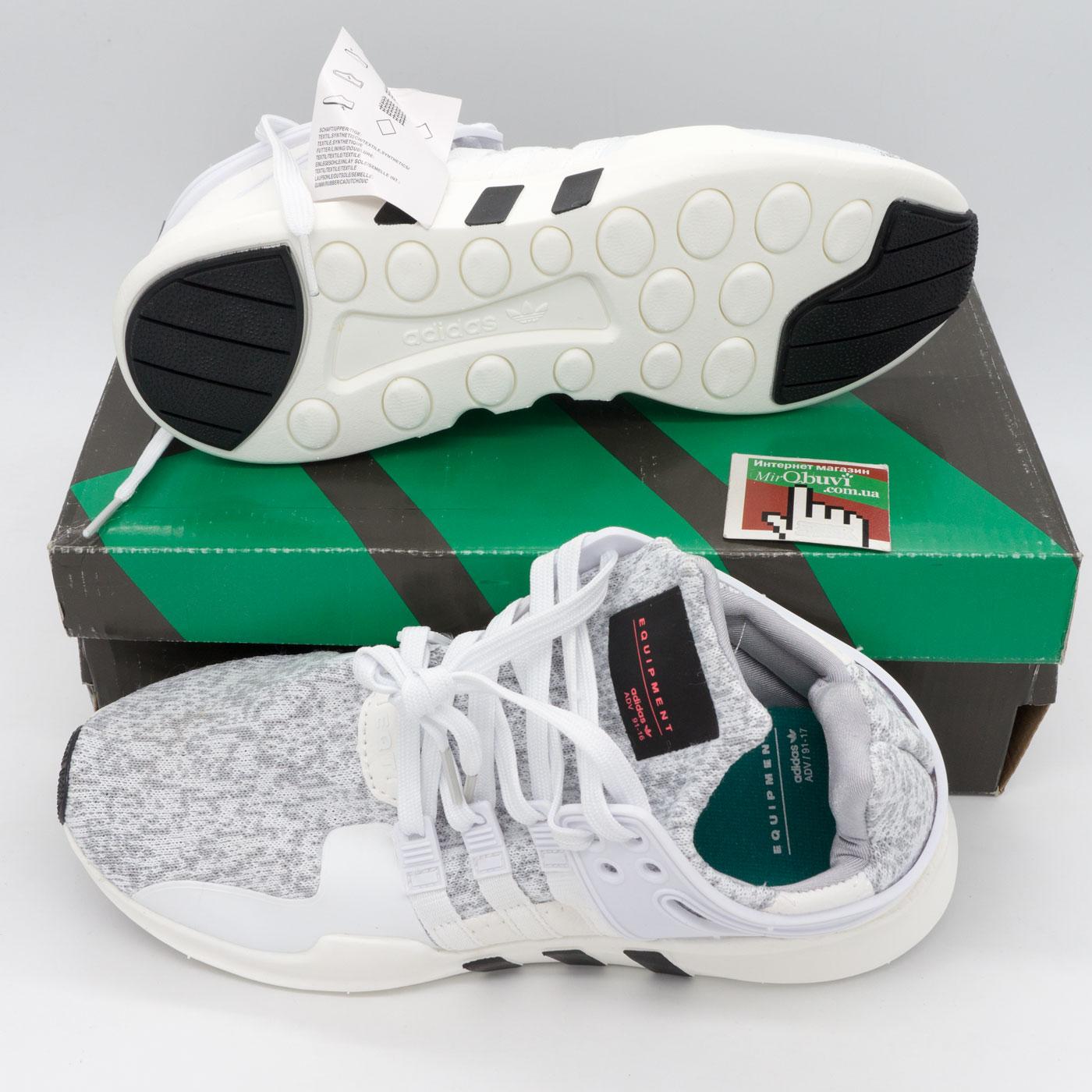 фото bottom Кроссовки Adidas Equipment Support (EQT) белые с серым 2. Топ качество! bottom
